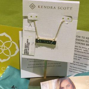 Kendra Scott Leanor earring gold emerald drusy